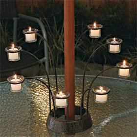 Patio Umbrella Candleholder