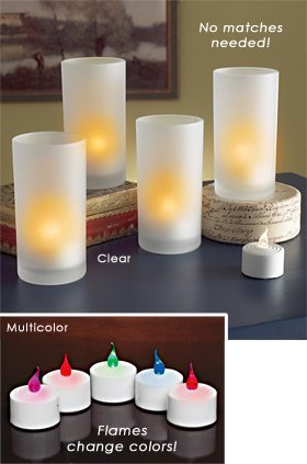 LED Flickering Tea Lights - set of 5