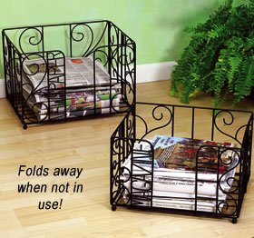 Foldable Metal Magazine Newspaper Racks