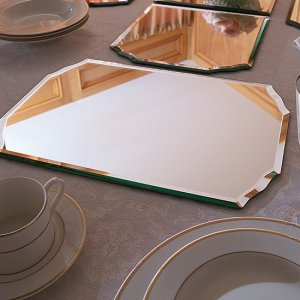 Set of 2 Mirrored Placemats
