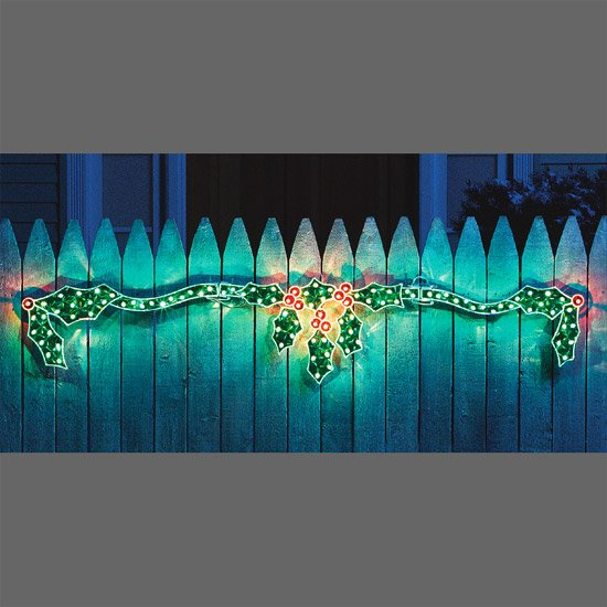 Lighted Seasonal Holographic Christmas Holly
