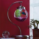 Satin Nickel Aquabetta Illuminated Aquarium Lamps