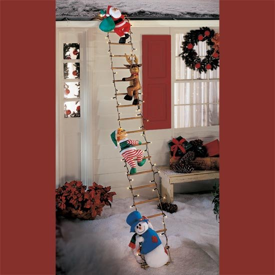 9-Ft. Lighted Figures On Ladder