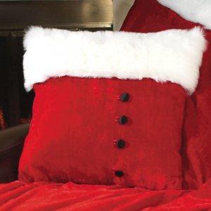 "Santa's ""Fur Trimmed"" Pillow"
