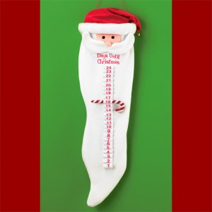Plush Santa Countdown Calendar