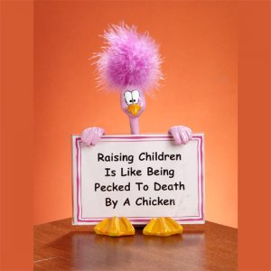 Feathered Attitude Sign Holders - raising children