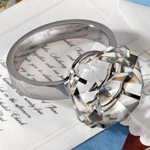 Huge Diamond Ring Paperweight