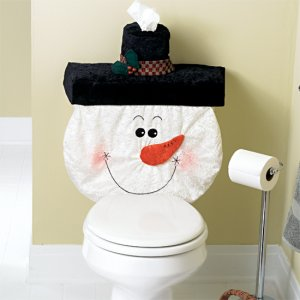 Snowman Holiday Tank and Tissue Covers