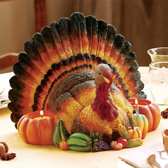 Turkey Centerpiece Candleholder