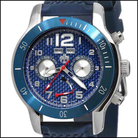 SUG FUSE MENS AUTOMATIC WATCH NEW S.U.G. BLUE CARBON FIBER DIAL FREE USA S-H