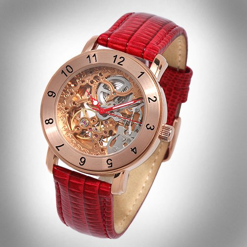 SUG SHADOW MENS 21J AUTOMATIC SKELETON WATCH NEW S.U.G. FREE USA S-H