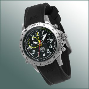 SUG HURRICANE MENS SWISS CHRONOGRAPH WATCH NEW S.U.G. BLACK FREE USA S-H