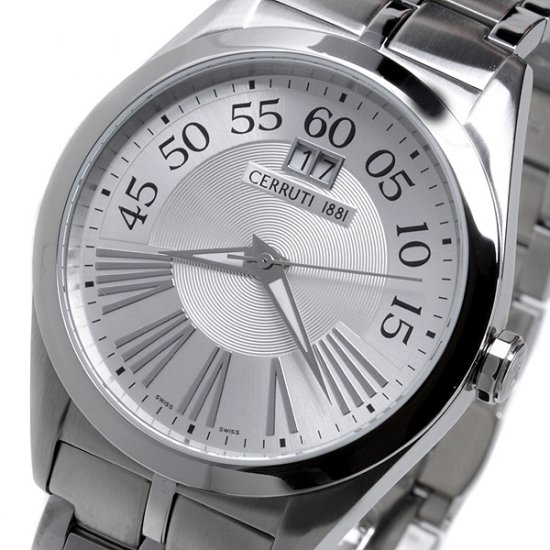 Cerruti 1881 Tradizione Mens Swiss Stainless Steel Watch New Silver F