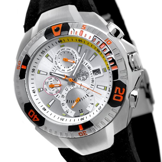 SUG FALCON MENS SWISS MULTIFUNCTION QUARTZ WATCH NEW S.U.G. SILVER FACE