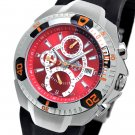 SUG FALCON MENS SWISS MADE MULTIFUNCTION QUARTZ WATCH NEW S.U.G. RED FACE