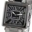 CERRUTI LADIES C IMPERO DONNA SWISS SWAROVSKI STAINLESS STEEL WATCH NEW BLACK