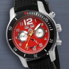 SUG FUSE MENS AUTOMATIC WATCH NEW S.U.G. RED CARBON FIBER DIAL FREE USA S-H