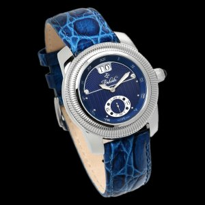 DUBOULE SUSSEX MENS 20J AUTOMATIC WATCH NEW BLUE LEATHER
