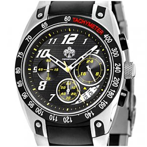 SUG VELOCITY MENS SEIKO VD53B CHRONOGRAPH MOVEMENT STAINLESS STEEL WATCH NEW BLACK S.U.G.