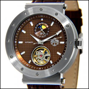 S.U.G. BEDLAM MEN'S 20J AUTOMATIC WATCH NEW BROWN SUG