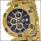 SUG SHAKEDOWN MENS CITIZEN OS10 CHRONOGRAPH GOLD TONE STAINLESS STEEL WATCH NEW S.U.G. NAVY