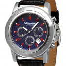 ROUSSEAU CODA MENS 22J AUTOMATIC WATCH NEW BLUE FACE & LEATHER STRAP