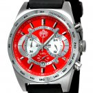 SUG TYPHOON MENS CITIZEN OS20 CHRONOGRAPH WATCH NEW S.U.G. RED-SILVER COLOR DIAL