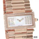 CERRUTI 1881 LADIES SCATOLA SOGNO SWISS QUARTZ SWAROVSKI CRYSTAL WATCH NEW MOP FREE USA SHIPPING