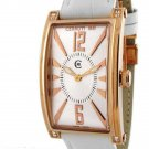CERRUTI 1881 LADIES GENOVA DONNA SWISS QUARTZ SWAROVSKI CRYSTAL WATCH NEW RGT WHITE LEATHER