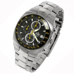 SUG AVENGER MENS CITIZEN OS10 CHRONOGRAPH STAINLESS STEEL WATCH NEW S.U.G. BLACK