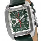 S.U.G. JETSTREAM MEN'S SEIKO QUARTZ MOVEMENT WATCH NEW GREEN DIAL SUG LEATHER STRAP