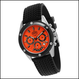 SUG KRONOS MENS CITIZEN OS22 CHRONOMETER STAINLESS STEEL WATCH NEW S.U.G. ORANGE