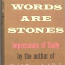 Words Are Stones Carlo Levi 1958 HC/DJ