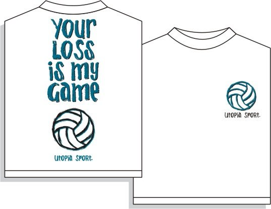 YOUR LOSS VOLLEYBALL T-SHIRT SMALL NEW