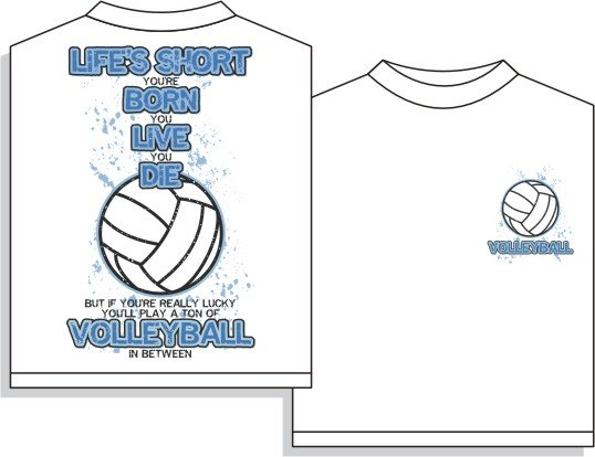 VOLLEYBALL IN BETWEEN T-SHIRT LARGE NEW volley ball