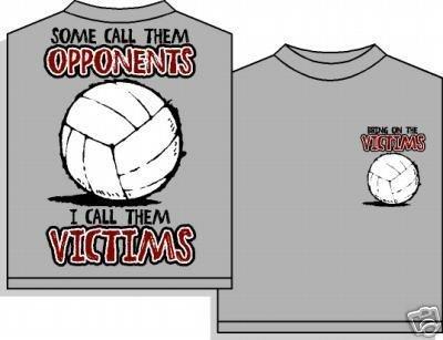VOLLEYBALL VICTIMS T-SHIRT MEDIUM NEW