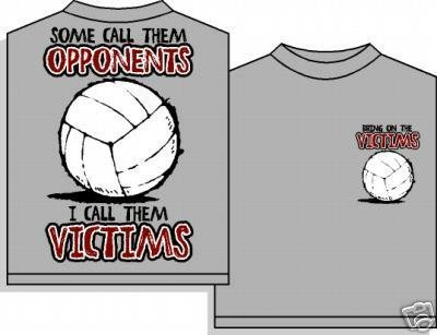 VOLLEYBALL VICTIMS T-SHIRT LARGE NEW volley ball