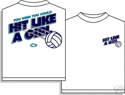 YOU WISH VOLLEYBALL T-SHIRT LARGE NEW