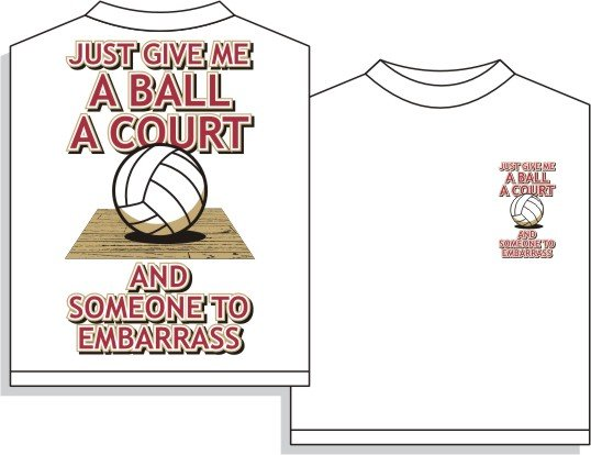 VOLLEYBALL EMBARRASS T-SHIRT LARGE NEW