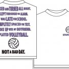 NOT A BAD DAY VOLLEYBALL T-SHIRT XL NEW FREE SHIPPING