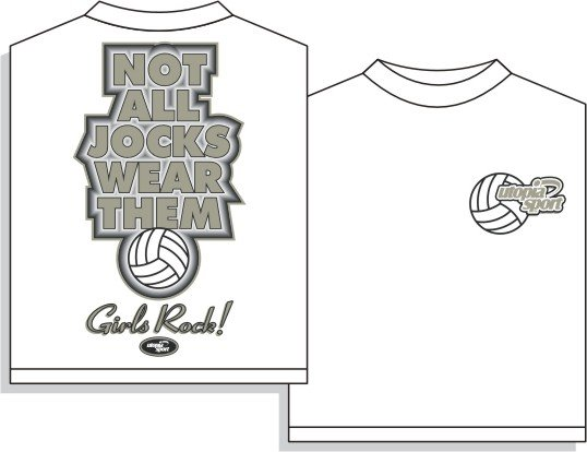 NOT ALL JOCKS VOLLEYBALL T-SHIRT LARGE NEW FREE SHIPPING