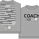 COACHISMS VOLLEYBALL T-SHIRT XL NEW