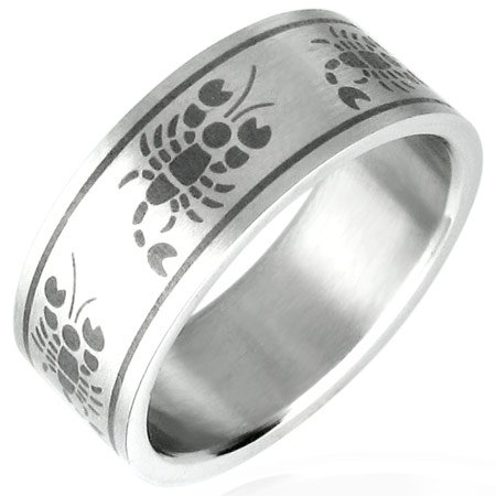 Scorpion Inlay Ring Size 9