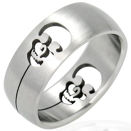 Skull Design Ring Size 8