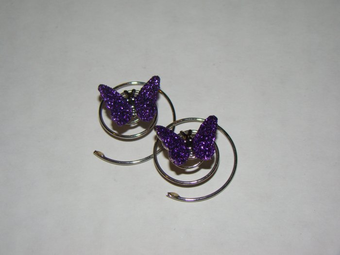 Girls purple butterfly spirals
