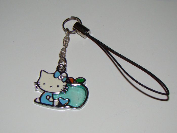 Hello Kitty Blue Apple Cell Charm
