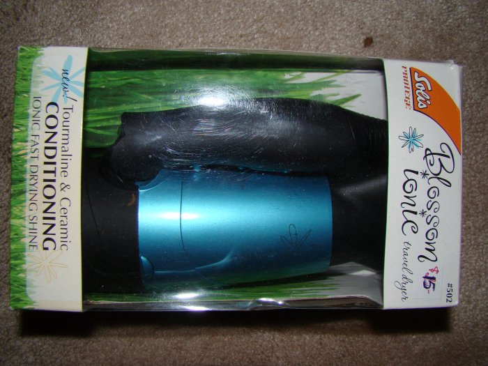 Solis Blossom Ionic Travel Hair Dryer - Blue