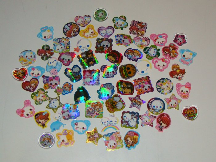 61 Assorted sack stickers + Bonus stickers!