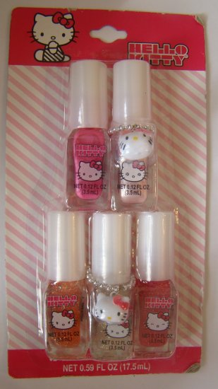Hello Kitty PINKS 5pc Nail Polish Set