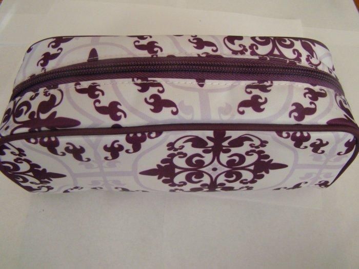 Modella Purple and White Make-up Bag